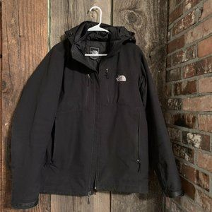 Black removable Hood Lined Heavy Jacket M